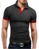 Рубашки пола горячих людей хлопка 200GSM пробела втулки краткости сбывания