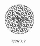 비 자전 철강선 밧줄 35W*7