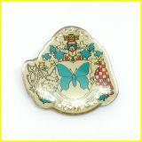 銀によってめっきされる印刷された水晶宝石用原石のブローチの折りえりPin