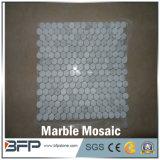 Мозаика формы шестиугольника белая мраморный для сбывания