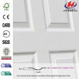 Piel blanca de madera interior moldeada chapa de la puerta de la pintura de fondo (JHK-002)