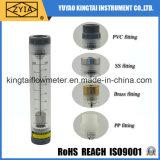Type acrylique lu facile débitmètre convenable de canalisation de Lzm-G de l'eau de solides solubles