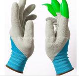 Горячее сбывание вручило перчатки джинов сада с пластичными напальчниками