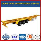 실용적인 반 트럭 트레일러 40FT 거위 목 모양의 관 트레일러