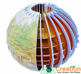 бумажные модель мира глобуса 3D/головоломка зигзага картона/воспитательная игрушка