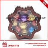 Rectángulo creativo del estaño del metal del caramelo del conjunto del chocolate de la estrella