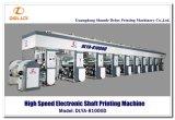 Auto imprensa de impressão de alta velocidade do Rotogravure com eixo eletrônico (DLYA-81000D)