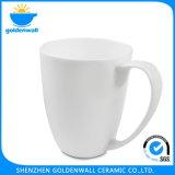 De witte Ceramische Kop van Latte van de Koffie met Fijn Been China