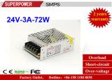 fuente de alimentación de la conmutación de 24V 3A 72W reservada para la impresora