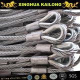 Веревочка провода нержавеющей стали (AISI 304 7*7-4mm)