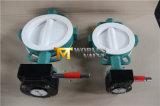 6 Zoll-gangbetriebenes PTFE ausgekleidetes Oblate-Drosselventil