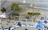 リッジのフロアーリングおよび装飾が付いている大きい玄関ひさしの結婚式のテント
