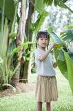 نمو فصل صيف أطفال يلبّي [لينن] قطر توليف بنات [ت-شيرت]
