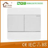 Interruptor leve elétrico da parede em dois sentidos de dois grupos