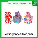 Caja de cartón decorativa del regalo del favor de la cinta colorida para el caramelo
