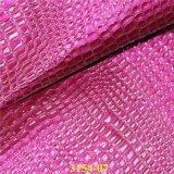 履物、袋のためのファッション小物のワニの穀物PUの物質的な革