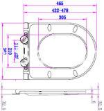 Einfacher super dünner und flacher weißer Toiletten-Sitzdeckel