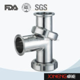 Tipo de acero inoxidable de doble curva Tee (JN-FT5008)