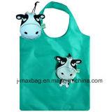 Sacchetto pieghevole del cliente dei regali con il sacchetto 3D, lo stile animale della mucca, i sacchetti riutilizzabili, leggeri, di drogheria e pratico, promozione, accessori & decorazione