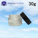 [30غ] مستحضر تجميل قشرة مرطبان زجاجيّة مع [ألومينوم-بلستيك] أغطية