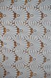Tessuto materiale del merletto del poliestere con ricamo elegante