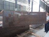 Lajes pequenas do granito vermelho do bordo G562 para partes superiores da bancada/vaidade/parede/assoalho/etapas/monumento/lápide