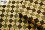 Tela verde de los muebles del Chenille de Gemotric (FTH31151)