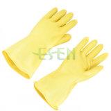 黄色いゴム製手袋の抵抗力がある酸およびアルカリに対して抵抗力がある黄色い乳液の防護手袋オイル