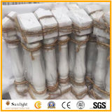 Asta della ringhiera di pietra di marmo bianca di pietra naturale/del granito per il corrimano dell'inferriata