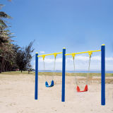 Galvanizado oscilación doble de acero Niño Set de fitness al aire libre