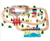 Игрушка горячего поезда подарка на рождество 92PCS деревянного установленная для малышей и детей