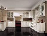 台所家具の贅沢な純木の食器棚