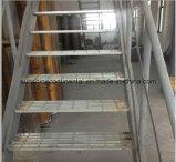 Escaleras Grating de acero galvanizadas sumergidas calientes de la prolongación del andén