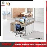 Poste de travail neuf de personnel de compartiment d'ordinateur de partition de bureau de type
