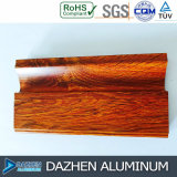 Formato di colore personalizzato grano di legno di alluminio di alluminio dell'armadio da cucina della mobilia di profilo