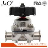 Válvula de diafragma sanitaria de la categoría alimenticia con el actuador plástico