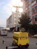 Tour d'éclairage mobile avec le mât télescopique de 9m