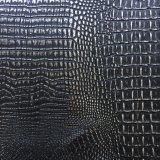 Shinny Kurbelgehäuse-Belüftungfaux-Krokodil-Leder für Handtaschen-Polsterung