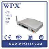 Epon ONU para el ranurador óptico de banda ancha casero 4fe/4ge de la red de fibra del acceso