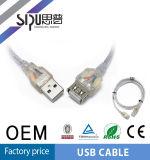Мужчина кабеля USB Sipu к женским кабелям компьютера шнура выдвижения