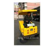 Esterno Guidare-sulla spazzatrice di strada verde della macchina