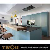 Яркий шкаф кладовки кухни конструктора с большим островом Tivo-0242h Veneer