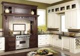 ホーム家具の白いヨーロッパ式の純木の食器棚