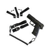 Do revólver elástico ao ar livre tático da pistola da polícia militar estilingue do injetor da mão do colhedor mini com laço da correia