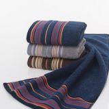 Toalla de cara de los hombres oscuros del Ab del algodón de la toalla Yarn-Dyed de la arena