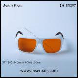Alto nivel de la protección para los anteojos protectores de las gafas de seguridad de laser 200-540nm y 900-1100nm para 2 la línea YAG y Ktp con el marco 36