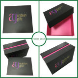 Caixa de papel cosmética de carimbo quente do ouro (FP1057)
