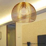 Lámpara pendiente de la lámpara de aluminio de la fuente de Zhongshan para de interior