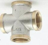 Instalaciones de tuberías de cuatro terminales de la cuerda de rosca de cobre amarillo (EM-F-231)