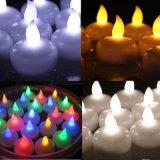 Colore bianco e candela impermeabile affusolata di figura LED